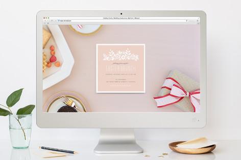 White Garden Easter Online Invitations