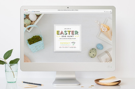 Egg-cellent Easter Easter Online Invitations