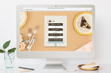Naked Cake Engagement Party Online Invitations