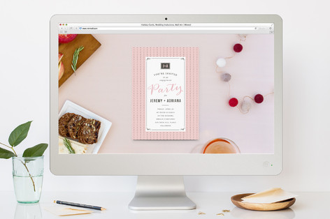 Polkadot Chic Engagement Party Online Invitations