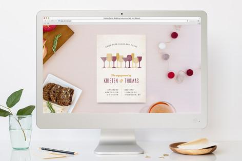 Raise A Glass Engagement Party Online Invitations