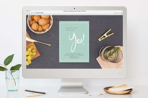 Yes! Engagement Party Online Invitations