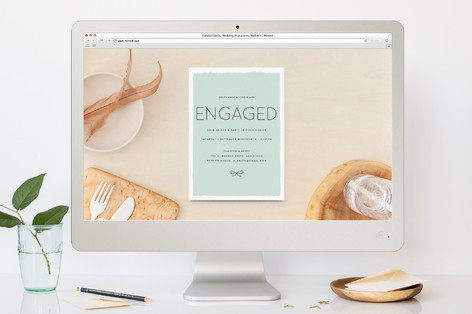 Knotted Engagement Party Online Invitations