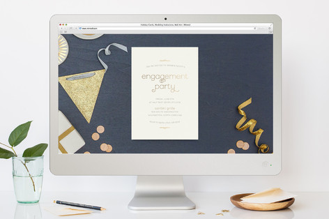 Royale Engagement Party Online Invitations