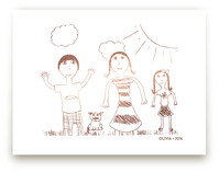 Your Drawing as Foil Art Print Kids Drawn Art