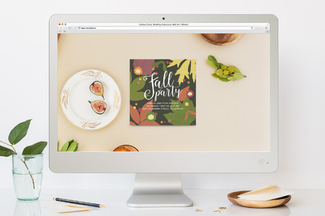 Gather Round Fall Party Online Invitations