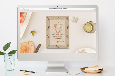 Harvest Swap Fall Party Online Invitations