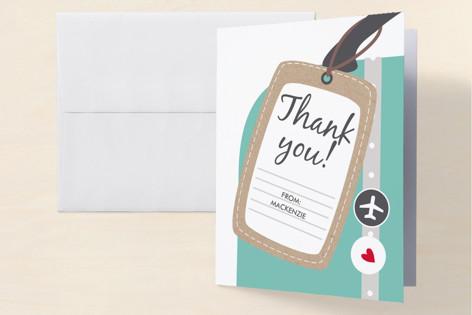 Bon Voyage Farewell Party Thank You Cards