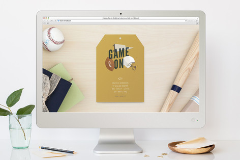 First Down Sport and Event Online Invitations