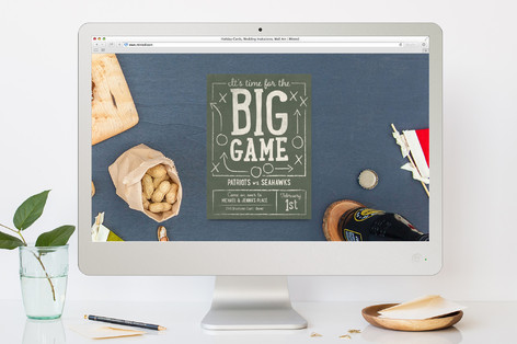 It's Game Time Sport and Event Online Invitations