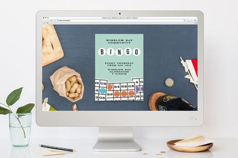 Bingo Bash Sport and Event Online Invitations