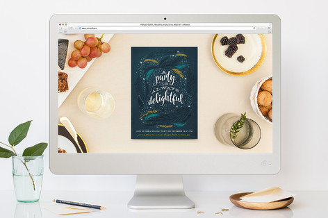 A Delightful Party Holiday Party Online Invitations