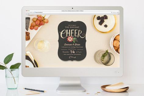 Bring on the Cheer Holiday Party Online Invitations