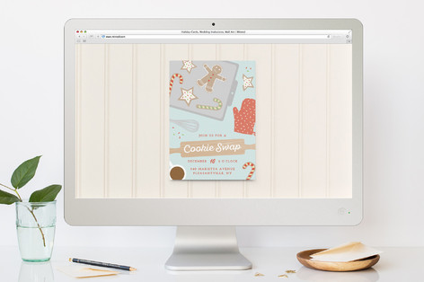 Cookie swap Holiday Party Online Invitations