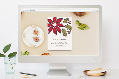 Florals Holiday Party Online Invitations