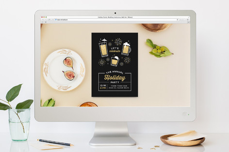Party Icons Holiday Party Online Invitations
