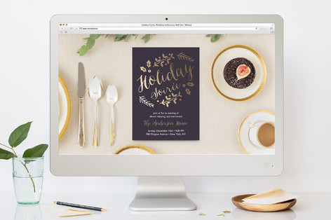 Sparkle Soiree Holiday Party Online Invitations