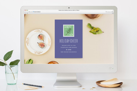 Stamp It Holiday Party Online Invitations