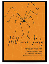 Big Spider In Web Halloween Party
