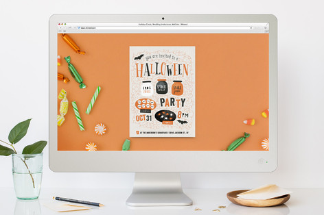 Let's Get Spooky! Halloween Online Invitations