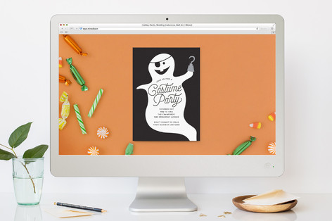 Pirate Ghost Halloween Online Invitations