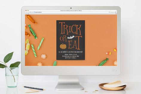 Trick or Eat Halloween Online Invitations