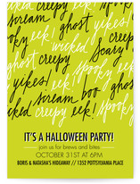 Wicked Lettering Halloween Online Invitations