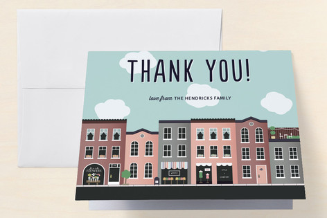 Urban Charm Housewarming Party Thank You Cards