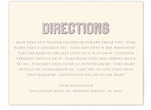 Rustic Keys Directions Cards