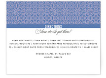 Mediterranean Stucco Directions Cards