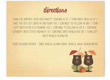 Tiki Luau Directions Cards