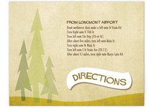 In the Woods Directions Cards