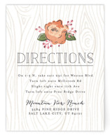 Rustic Wooded Romance Direction Cards