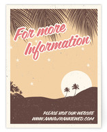 Retro Hawaii Directions Cards