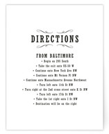 Antique Chalkboard Directions Cards