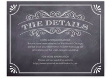 A Chalkboard Marriage Directions Cards