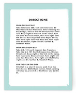 Retro Charm Directions Cards