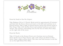 Wisteria Directions Cards