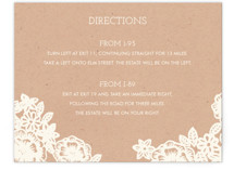 Lace and Kraft Directions Cards