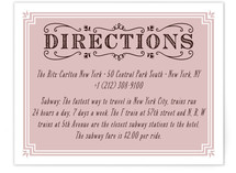 Chamade Directions Cards
