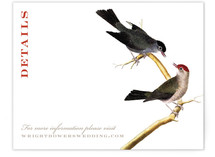 Vintage Bird Print Directions Cards