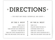 Established Union Directions Cards