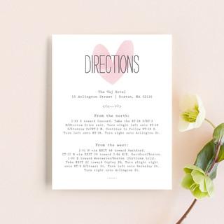 Typewritten Heart Direction Cards