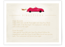 Vintage Car (Bonnie Ride) Directions Cards