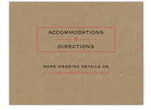 Vintage Kraft Directions Cards