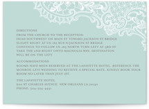White Lace Directions Cards