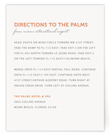 Simple Coral Directions Cards