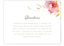 Stately Florals Direction Cards