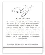 Script Monogram Directions Cards