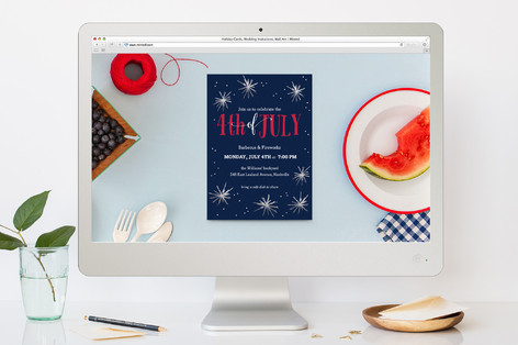 Sparkly 4th 4th of July Online Invitations